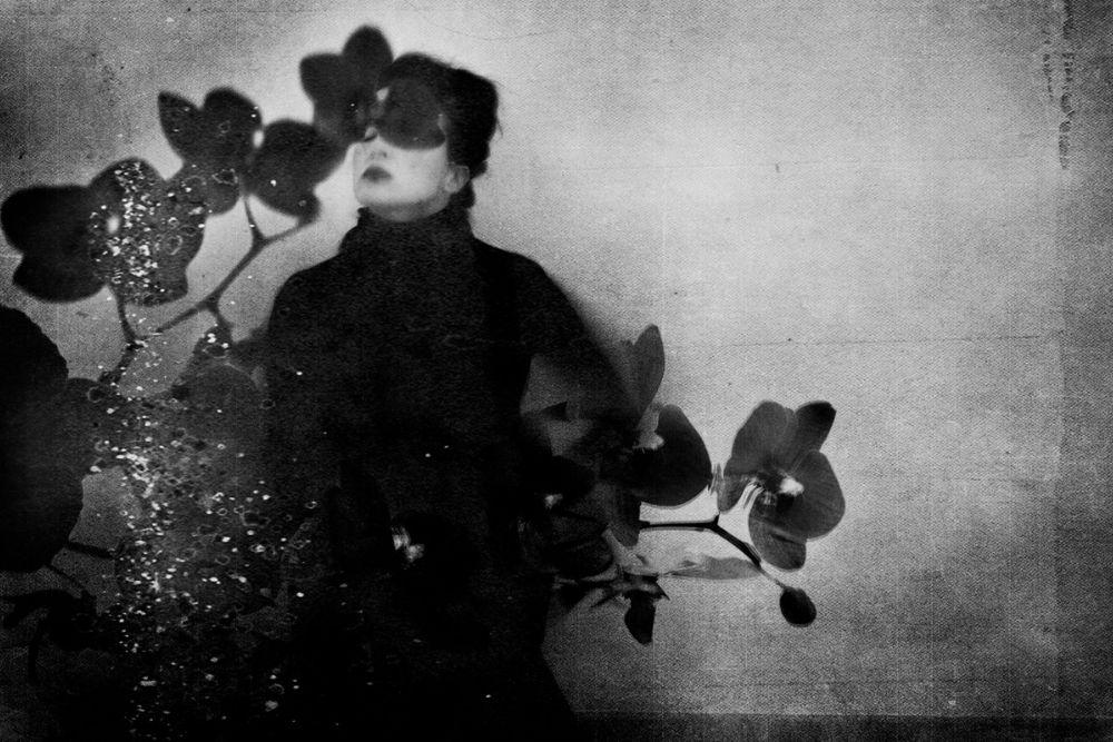 """Photographie noir et blanc de 2017 intitulée """"No Volvere"""" par Leila-Fores présenté par la Galerie d' art 3838"""