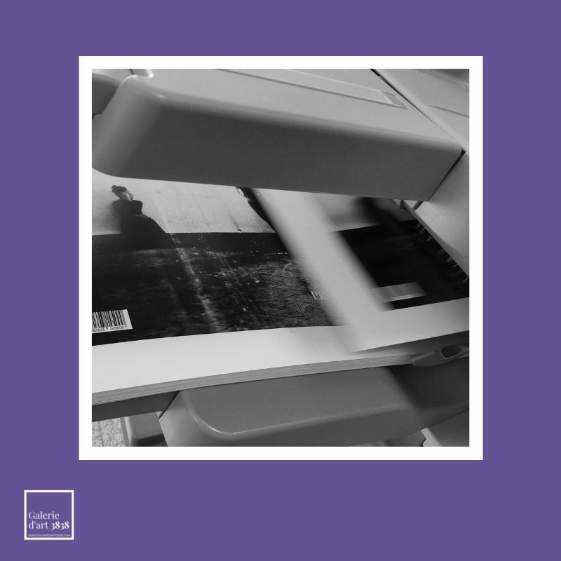 Galerie d'art 3838 - Impression de la couverture du catalogue de l expo Leila Fores - Angers