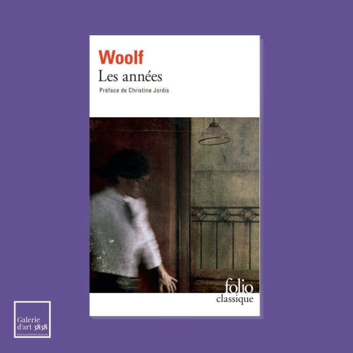 """Image de la couverture du roman """"Les années"""" de Virginia Woolf avec la photographie de notre artiste Leila Forés en couverture."""
